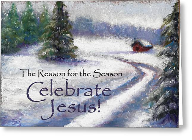 Barn Pastels Greeting Cards - Jesus Christmas Greeting Card by Susan Jenkins