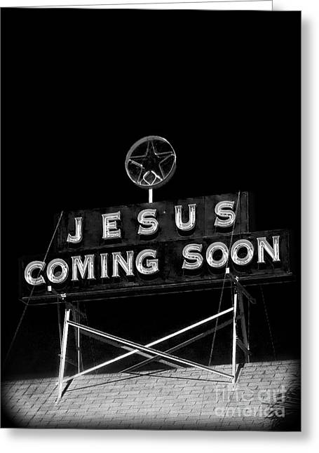 Signed Photographs Greeting Cards - Jesus Coming Soon Greeting Card by Edward Fielding