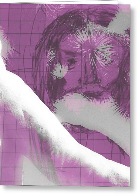 Messianic Art Greeting Cards - Jesus Entering Space Time Greeting Card by Carolina Liechtenstein