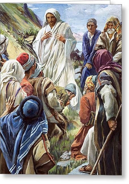 Gospel Greeting Cards - Jesus Greeting Card by Harold Copping