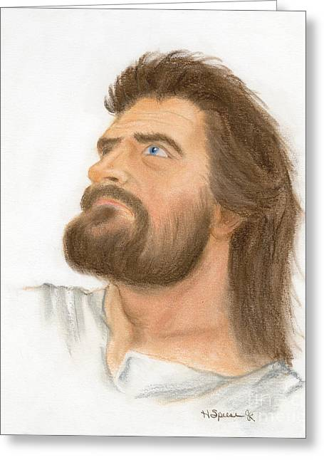 Jesus Pastels Greeting Cards - Jesus Greeting Card by Harry Speese