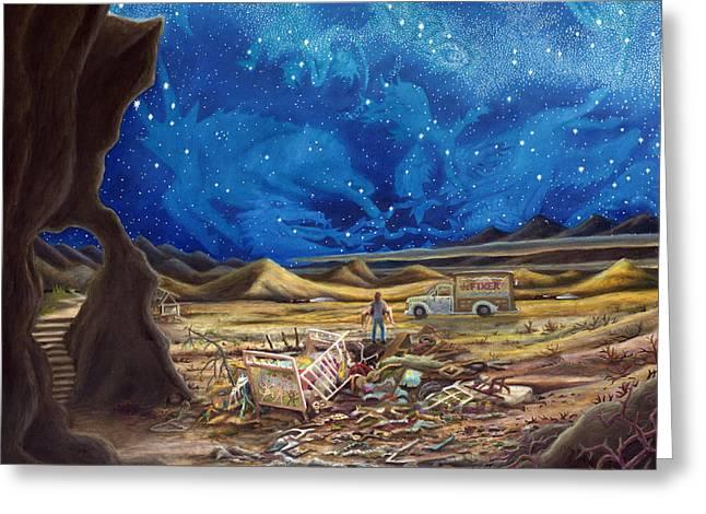 Jesus In Blue Jeans Greeting Card by Matt Konar