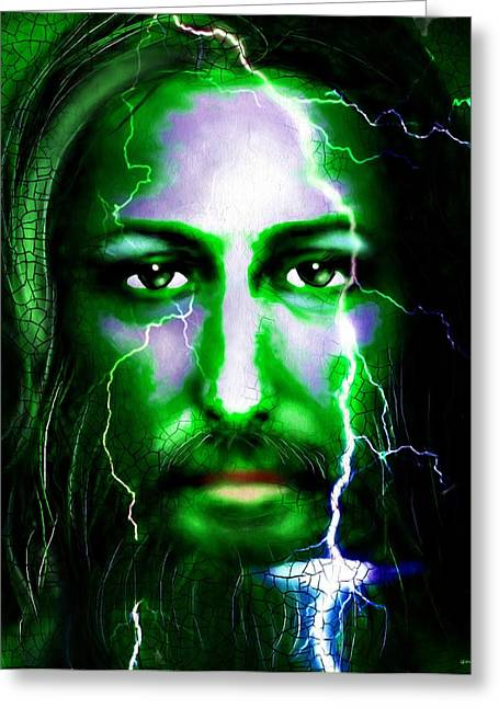 Christ In The Storm Greeting Cards - Jesus in the Storm Greeting Card by Daniel Janda