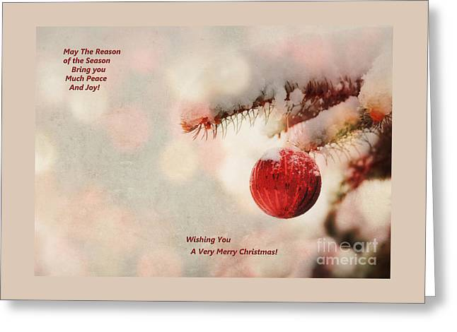 Christs Birthday Greeting Cards - Jesus is the Reason for the Season Greeting Card by Carolyn Rauh