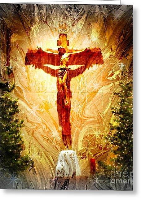 Frizzell Greeting Cards - Jesus is the reason Greeting Card by Michelle Frizzell-Thompson