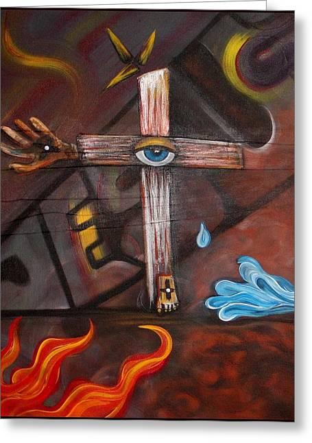 Jesus Greeting Card by Laura Barbosa