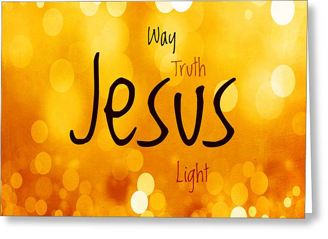 Advocate Greeting Cards - Jesus Light 1 Greeting Card by Angelina Vick