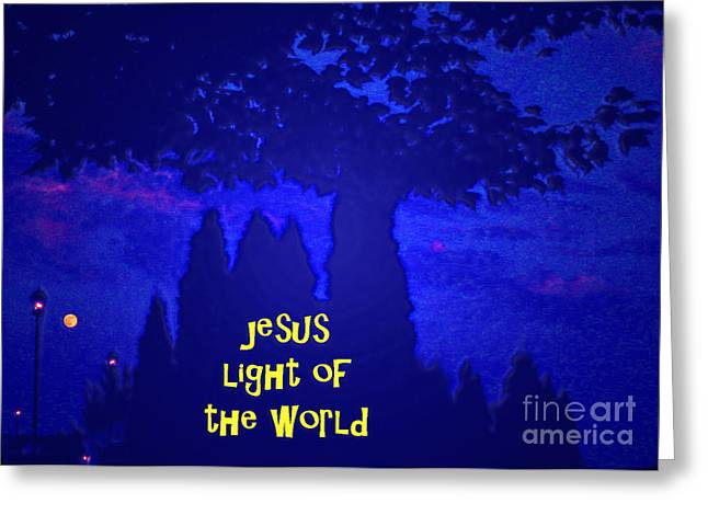 Reason For The Season Greeting Cards - Jesus Light of The World Greeting Card by Lydia Holly