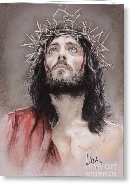 Nazareth Greeting Cards - Jesus  Greeting Card by Melanie D