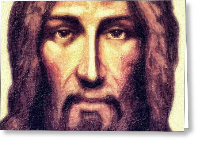 Jesus Christ Icon Digital Greeting Cards - Jesus Greeting Card by Nishanth Gopinathan