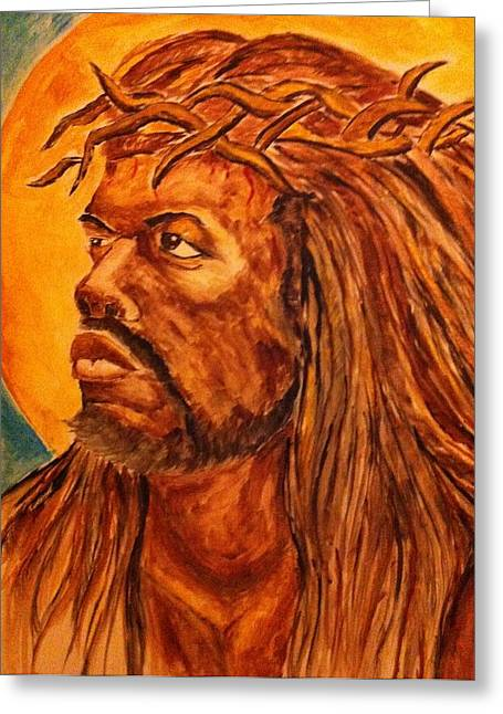 Jesus Of Color Greeting Card by Clyde Taylor