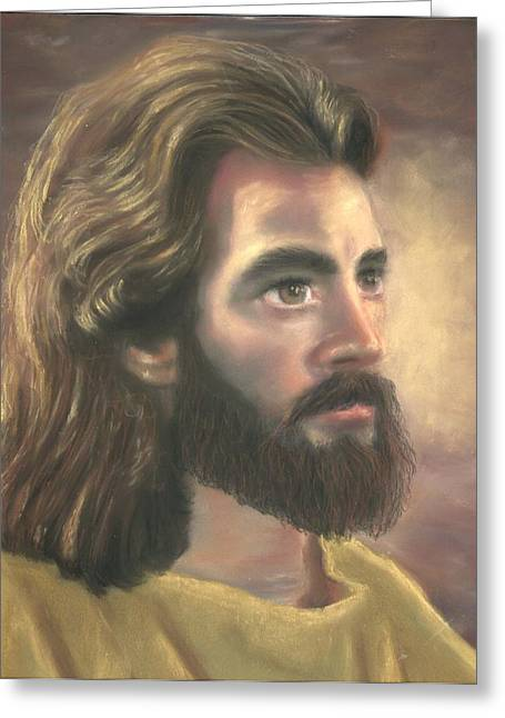 Jesus Pastels Greeting Cards - Jesus of Nazareth Greeting Card by Kathryn Foster