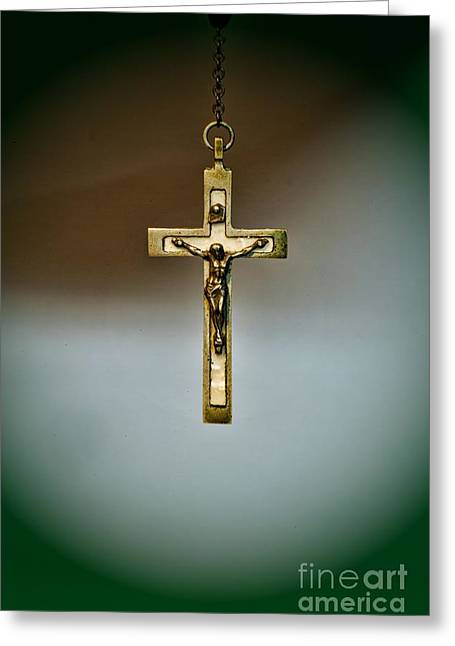 Rosary Greeting Cards - Jesus on the Cross 1 Greeting Card by Paul Ward