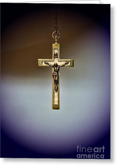 Rosary Greeting Cards - Jesus on the Cross 2 Greeting Card by Paul Ward