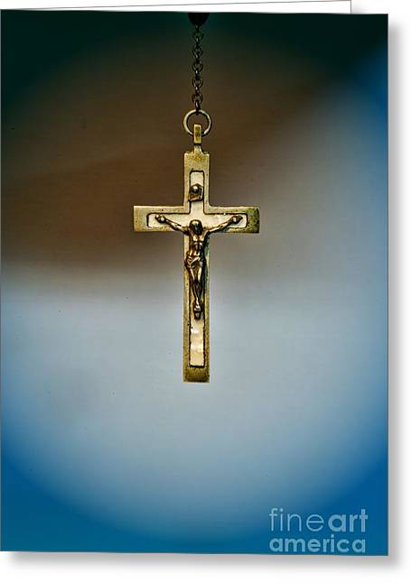 Rosary Greeting Cards - Jesus on the Cross 4 Greeting Card by Paul Ward