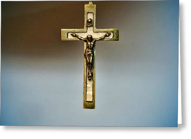 Jesus on the Cross 4 Greeting Card by Paul Ward