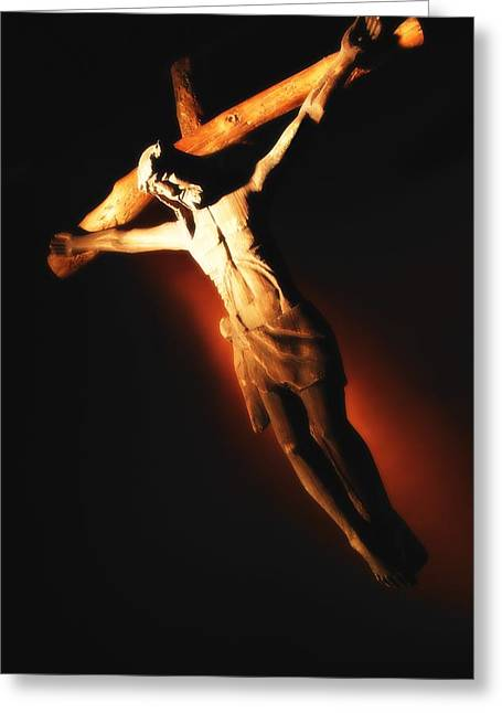 Deliverance Greeting Cards - Jesus On The Cross Greeting Card by Don Hammond