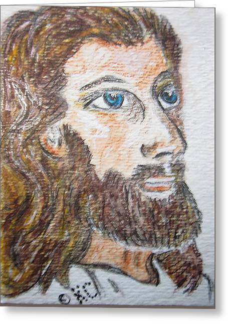 Jesus Our Saviour Greeting Card by Kathy Marrs Chandler