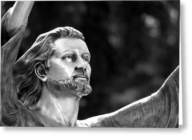 Sanctification Greeting Cards - Jesus Reaching Up Greeting Card by Glenn McGloughlin