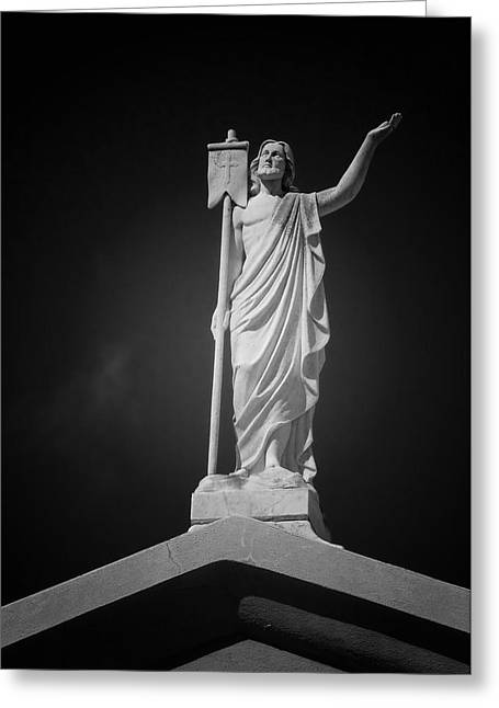 No 3 Greeting Cards - Jesus St Louis Cemetery No 3 New Orleans Greeting Card by Christine Till