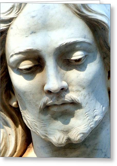 Jesus Statue Greeting Card by David G Paul