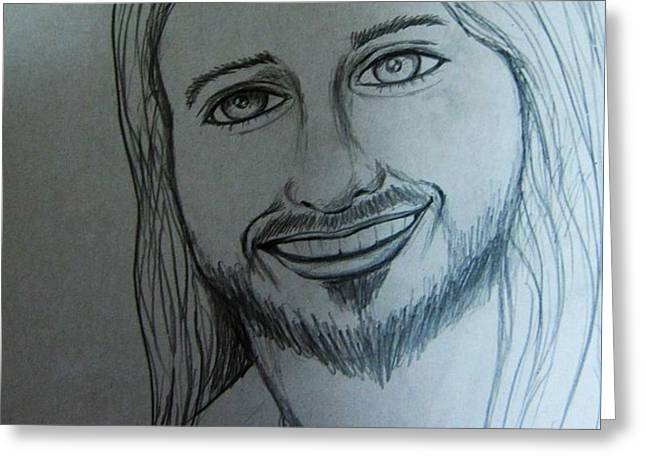 Jesus Sweet Smile Greeting Card by Esther Rowden