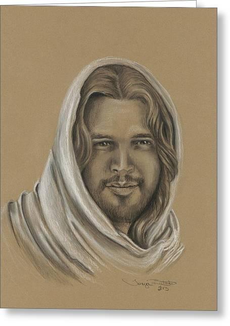 Jesus Pastels Greeting Cards - Jesus the Messiah Greeting Card by Tonya Butcher