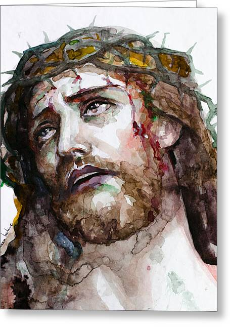 Jesus Christ Icon Greeting Cards - The Suffering God Greeting Card by Laur Iduc