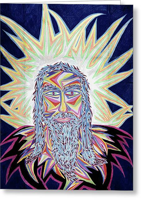 Jesus Pastels Greeting Cards - Jesus Year 2000 Greeting Card by Robert  SORENSEN