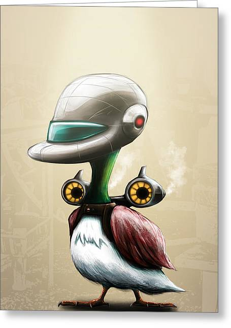 Sasank Gopinathan Greeting Cards - Jet Powered Duck Greeting Card by Sasank Gopinathan