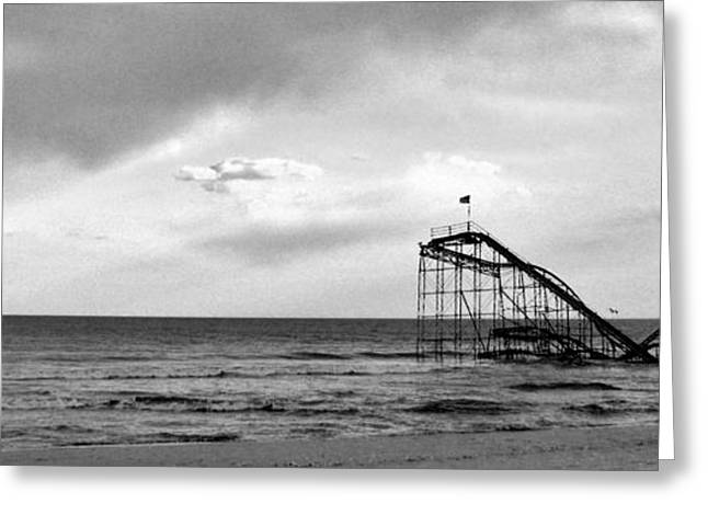 Jet Star Roller Coaster Greeting Cards - Jet Star Greeting Card by Ryan Correll