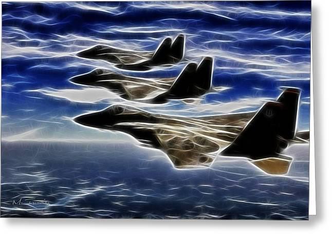 Jets Greeting Card by Maciej Froncisz