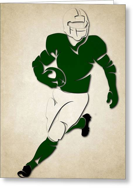 New York Jets Greeting Cards - Jets Shadow Player Greeting Card by Joe Hamilton