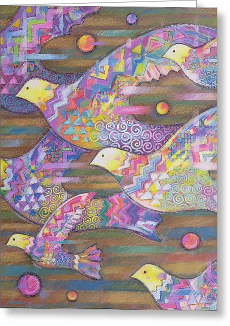 Hallucination Greeting Cards - Jetstream Greeting Card by Sarah Porter