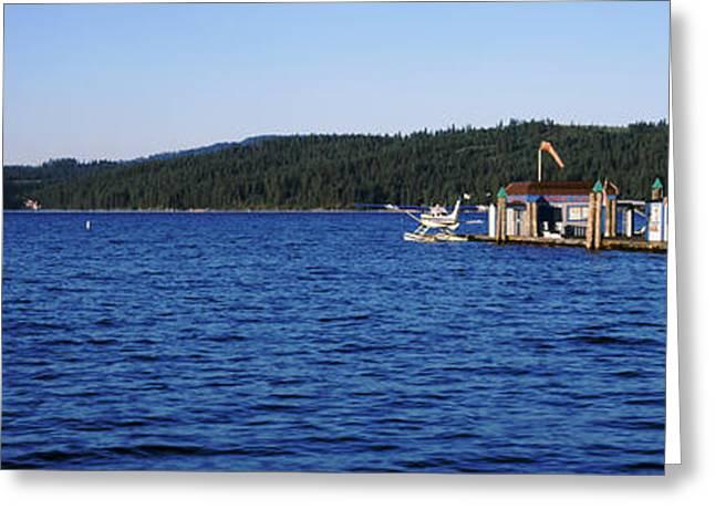 Idaho Photography Greeting Cards - Jetty At Lake Coeur Dalene, Idaho, Usa Greeting Card by Panoramic Images