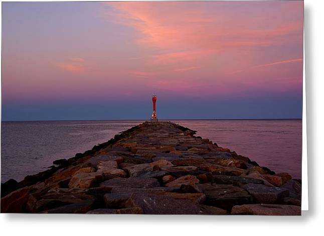 Scusset Beach. Greeting Cards - Jetty Greeting Card by Brian Mooney