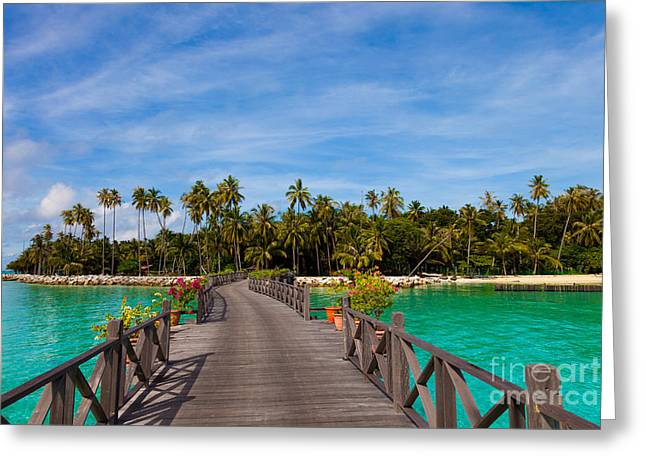 Exoticism Greeting Cards - Jetty Greeting Card by Fototrav Print