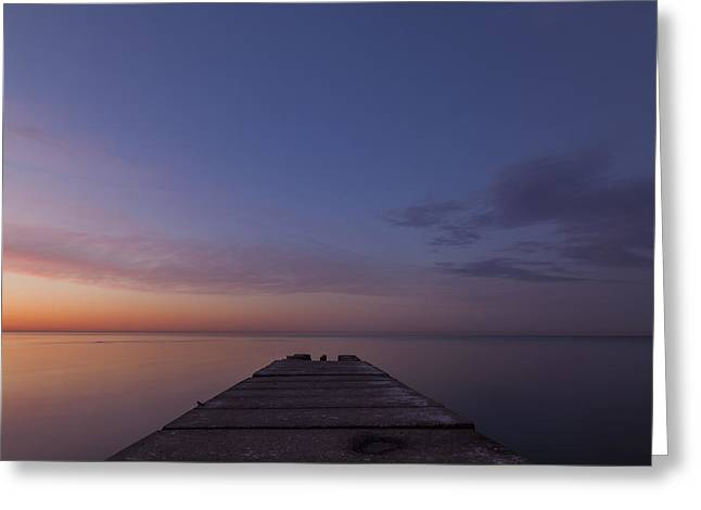 40mm Greeting Cards - Jetty Into the Light Greeting Card by CJ Schmit
