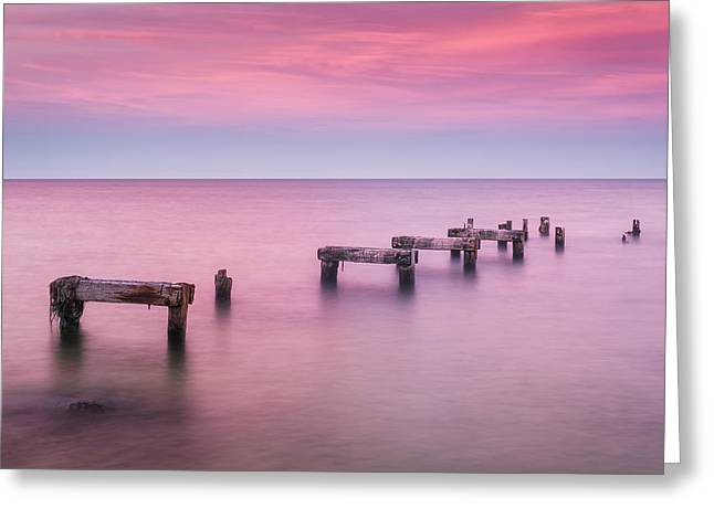Falmouth Massachusetts Greeting Cards - Jetty No More Greeting Card by Michael Blanchette