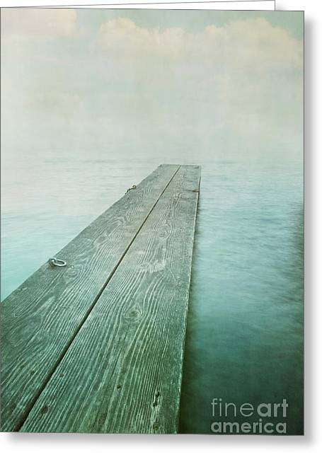 Landing Place Greeting Cards - Jetty Greeting Card by Priska Wettstein