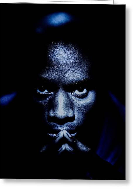 African-americans Greeting Cards - Jevon Blue Greeting Card by YoPedro