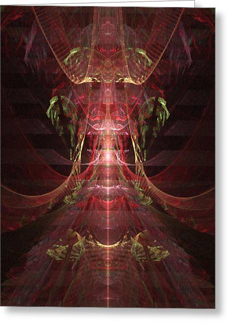 Manley Greeting Cards - Jewel Beetle - A Fractal Design Greeting Card by Gina Lee Manley