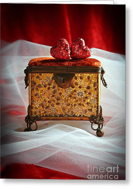 Valentines Day Greeting Cards - Jewel Casket Greeting Card by Amanda And Christopher Elwell