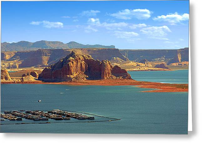 Jewel in the Desert - Lake Powell Greeting Card by Christine Till
