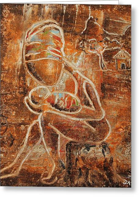 Taino Greeting Cards - Jewel of a Moment Greeting Card by Ramel Jasir