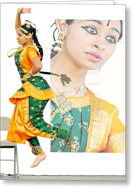 Candid Portraits Greeting Cards - Jewel of India Greeting Card by Diana Angstadt