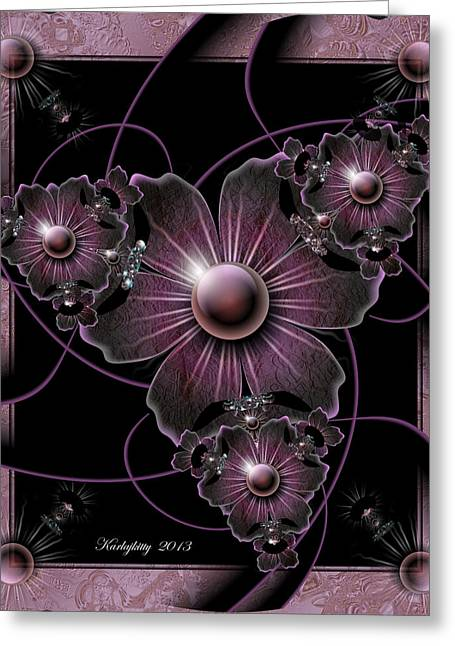 Karlajkitty Digital Art Greeting Cards - Jewel Of The Night Greeting Card by Karla White