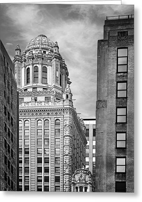 Prohibition Greeting Cards - Jewelers Building - 35 East Wacker Chicago Greeting Card by Christine Till
