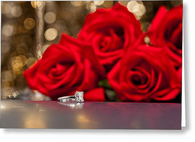 Precious Gem Greeting Cards - Jewelry and roses Greeting Card by Ulrich Schade
