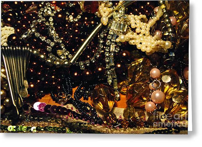 Diamond Bracelet Photographs Greeting Cards - Jewels Greeting Card by Maja Sokolowska